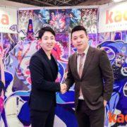 (左:ENJOY JAPAN 取締役 中山隆央 / 右:中国 Kaca entertainment 創業者・CEO 沈晨)