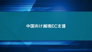 中国向け越境EC支援